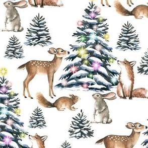 Large Scale / Christmas Gathering / White Background
