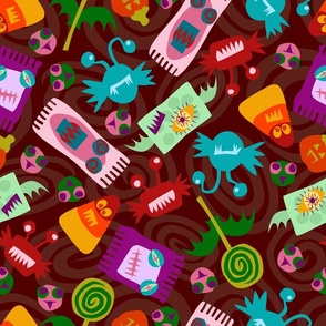 Halloween Candy Monsters