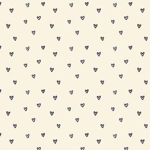 Little Hearts in Black & White