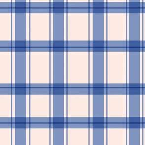 Gingham Check in Sky Blue