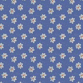 Vintage Floral in Medium Blue