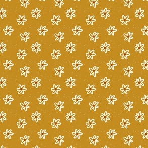 Vintage Floral in Mustard
