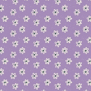 Vintage Floral in Purple