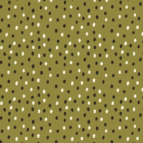 Dots & Stuff in Forest Green