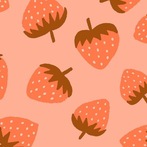 Yummy Strawberries in Coral