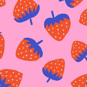 Yummy Strawberries in Red & Blue