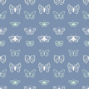 Blue-Tansy Pink wishes- Swarm, butterflies