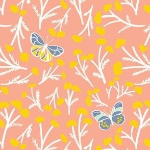Blue-Tansy Pink wishes - Butterfly Kiss