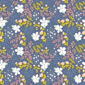 Blue-Tansy Pink wishes - Field Mix