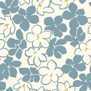 Blue-Tansy - Floating Flower, large blue flower