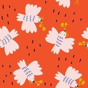 Birds Red - Jennifer Bouron for Nerida Hansen