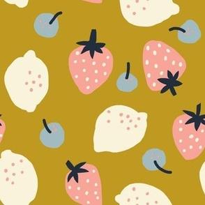 Fruits Honey Mustard - Jennifer Bouron for Nerida Hansen