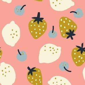 Fruits Honey Pink - Jennifer Bouron for Nerida Hansen
