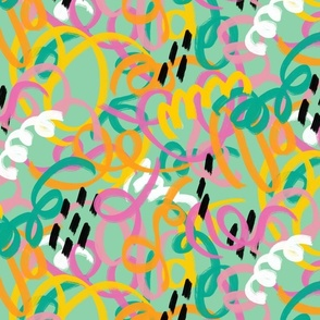Springtime abstract ribbon pattern