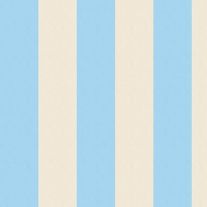 Light Blue and Cream Stripes  (large)