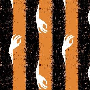 halloween hand stripe orange