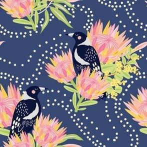 Clever Magpie Blue - Christie Williams for Nerida Hansen