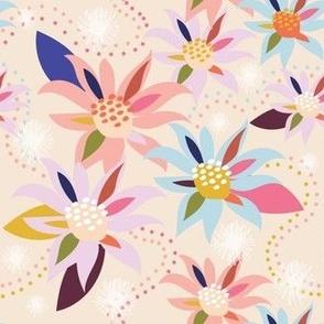 Abstract Flannel Flower Daylight - Christie Williams for Nerida Hansen