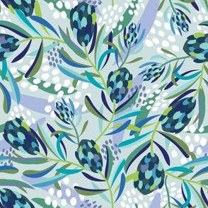Abstract Protea Midnight - Christie Williams for Nerida Hansen