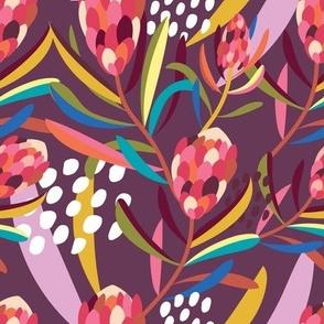 Abstract Protea Autumn - Christie Williams for Nerida Hansen
