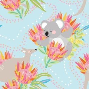 Animal Bouquet Blue - Christie Williams for Nerida Hansen
