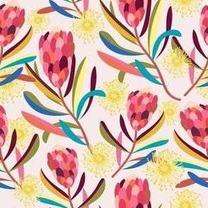 Protea Gum Flowers - Christie Williams for Nerida Hansen