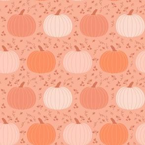 White Pumpkins on Orange Cottagecore Fall Halloween