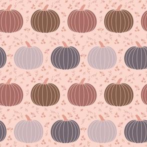 Dark Pumpkins Neutral Gray Brown Fall Halloween Cottagecore