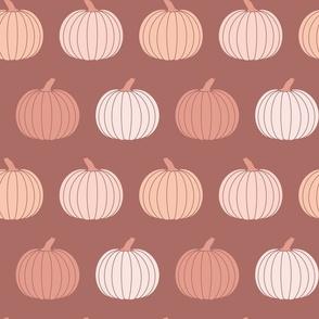 Boho Fall Pumpkins in Warm Dusty Pink Halloween
