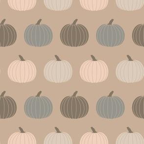 Cottagecore Pumpkins Neutral Farmhouse Halloween Green Gray Beige