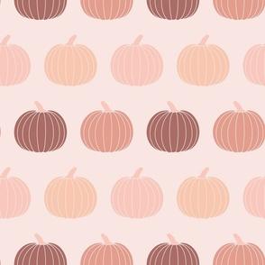 Fall Pumpkins Muted Pink Gender Neutral Halloween
