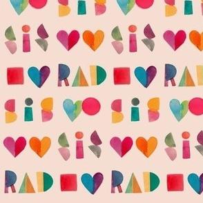 Rad Sis Playful Letters