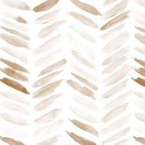 bronze watercolor chevron - earthy painted geometrical brush strokes - herringbone for modern home decor nursery a462-9