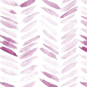 Fandango watercolor chevron - painted geometrical brush strokes - herringbone for modern home decor nursery a462-14