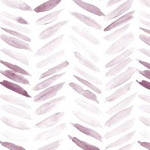 Puce watercolor chevron - painted geometrical brush strokes - herringbone for modern home decor nursery a462-16