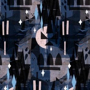 Retro Mod Spooky Shadows M+M Storm Medium by Friztin