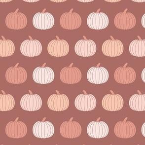 Small  Boho Fall Pumpkins in Warm Dusty Pink Halloween