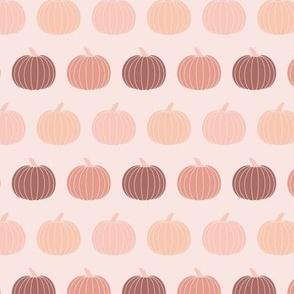 Small Fall Pumpkins Muted Pink Gender Neutral Halloween