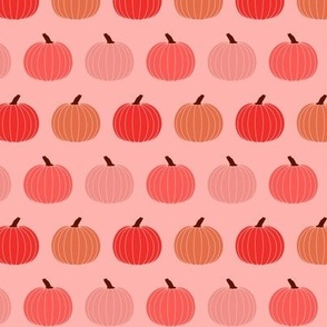 Small Fall Pumpkins in Red Orange Pink Halloween