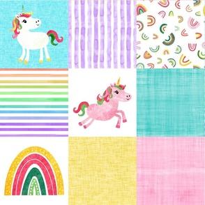 Watercolor Unicorn Cheater Quilt