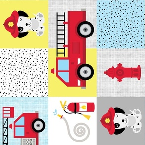 Dalmatian dog firetruck cheater rotated
