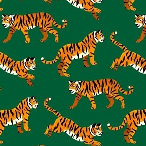 Bengal Tigers - Pine Green - Medium Scale