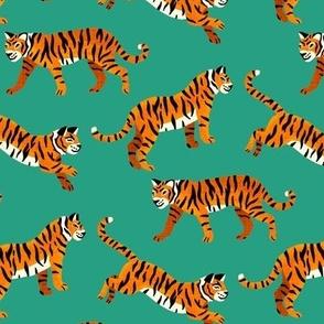 Bengal Tigers - Sea Green - Medium Scale