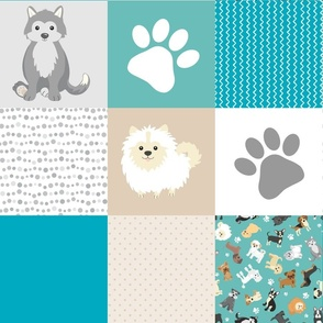 Puppy Whole Cloth Cheater Quilt