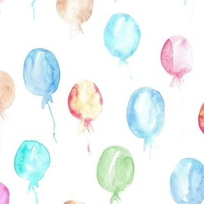 tender fairytale balloons - watercolor pastel balloons a447