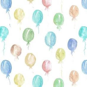 fairytale balloons - watercolor neutral balloon design for nursery, baby a447
