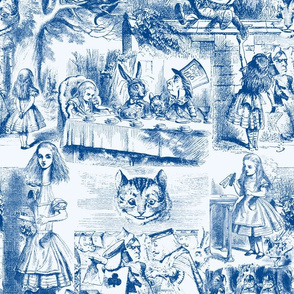 Curiouser and curiouser!  An Alice Toile ~ Blue