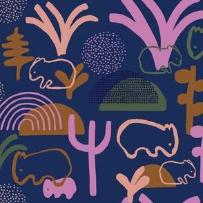 Wombat Family Love