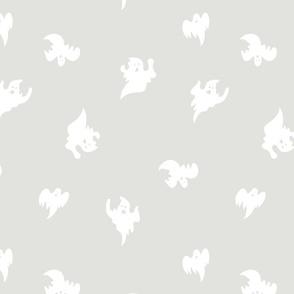ghosts in light grey