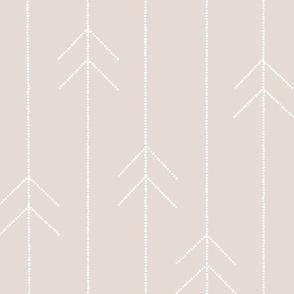 Geometric Dotted Arrows in Beige